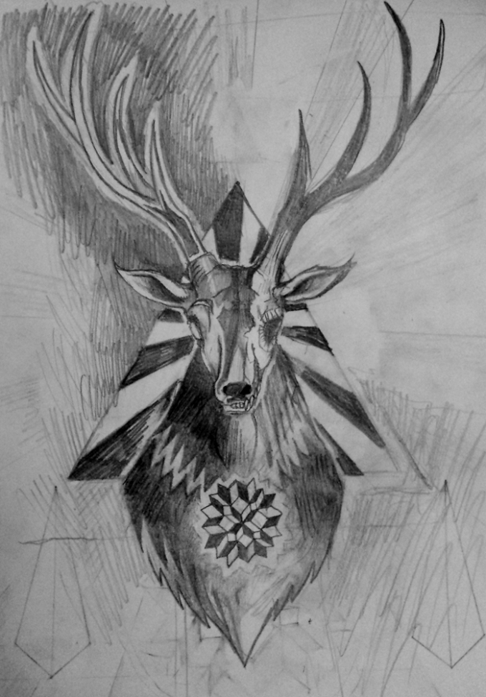 Stag Sketch