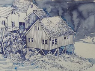 Reine Harbour Sketches